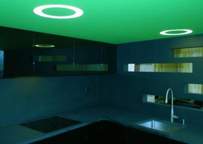 Valcuisines - cuisine laquée noir brillant_L053